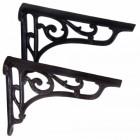 Ornate scrolled Iron Large Shelf Brackets