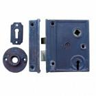 Vertical Style Rim Lock in Cast Iron