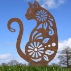 Rustic Finish on Cat Silhouette