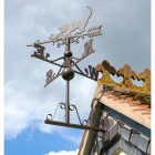 Standard Rustic Cat & Mouse Weathervane in Situ on the Gable End