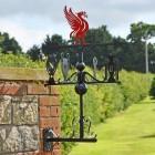 Deluxe Liverpool FC Weathervane in Situ