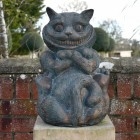 Front View of the Cheshire Cat Sculpture