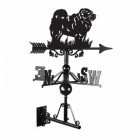 Chow Chow Weathervane Created From Iron