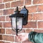 """""""Christleton"""" Bronze Wall Mounted Porch Light to Scale"""