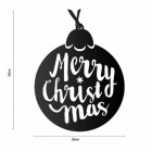 Dimensions of the Christmas Bauble Steel Wall Art