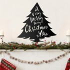 Christmas Tree Steel Wall Art in Situ Above a Fireplace