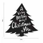 Dimensions of the Christmas Tree Steel Wall Art
