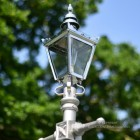 Chrome Victorian Lantern Top On Silver Lamp Post