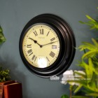 """The""""Barlow""""wall Clock in Situ on a  Blue Wall"""