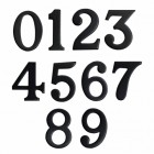 Classic 2 Inch Black Numbers with Fusion- Fix Adhesive