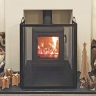 Classic Black Steel 3 Fold Fire Guard with Handles