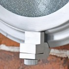 Close-up of the Opening on the Classic Bulk Head Style Wall Mounted Light