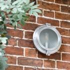 Polished Steel Classic Bulk Head Style Wall Mounted Light