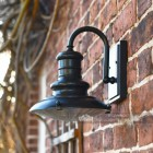Aluminium wall mounted Station light finished in black
