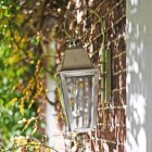 """Side View of the """"Cleobury"""" Antique Silver Wall Lantern"""