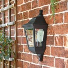 "Side View of the ""Clifton"" Flush Wall Mounted Porch Light Mounted Flush on a Brick Wall"