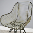 Close-up of the Industrial Wire Chair