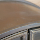 Close-up of the rustic Finish on the Top of the Cabinet