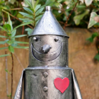 Close-up of the Face of the tin Man
