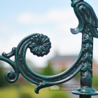 Close Up of Ornate Bracket On Lamp Post
