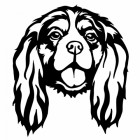 Metal Cavalier King Charles Spaniel Wall Art Finished in Black