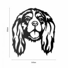 Metal Cavalier King Charles Spaniel Wall Art  to Scale