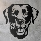 Labrador Metal Wall Art Silhouette on a Rustic Wall