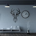 Geometric Stag Wall Art in Situ in the Home