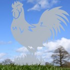 Silver Rooster Silhouette