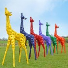 Coloured Giraffe Sculpture in Various Finishes