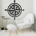 Compass Wall Art in a Modern Sitting Room