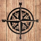 Compass Wall Art in Situ on a Wooden Wall