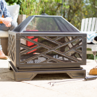 Contemporary Style Fire Pit in Bronze
