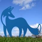 Contemporary Fox Silhouette in Blue
