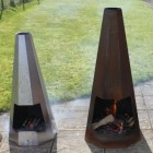 Contemporary Hexagonal Chiminea Available in Two Sizes