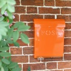 Contemporary Orange Wall Mounted Letter Box