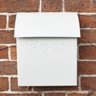 Contemporary Post Box finished in Ice White