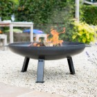 80cm Contemporary Firepit Created from Steel