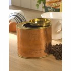 Copper and Polished Brass Tea Caddy & Coffee Tin