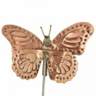 Copper Butterfly Garden Spike Ornament