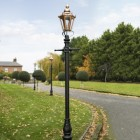 Copper Concordia Hexagonal Lamp Post & Lantern Set 2.7m