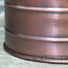 Close-up of the Copper Finish on the Coal Hod