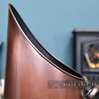 Close-up of the Lip of the Copper Finish Traditional Coal Hod