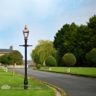 Copper Harrogate Lamp Post 2.25m Installed On Driveway