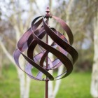 Copper Effect Spiral Wind Spinner