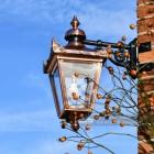 Copper Top Fixed Wall Lantern On Corner Bracket