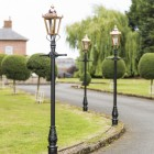 Set of copper Victorian lamp posts 2.3m on driveway