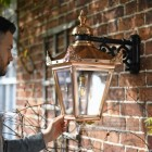 Copper Victorian Lantern To Scale