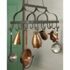"""""""Ellesmere"""" Hanging Saucepan Rack in Situ holding Pans"""