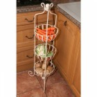 Cream Vegetable Rack in Use in the Kitchen